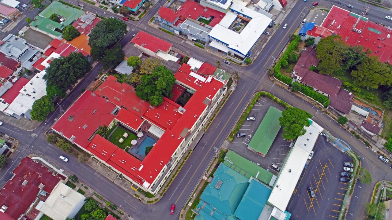 Vista aerea Hotel Autentico